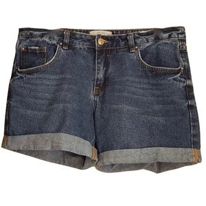 New Look Women's Boyfriend Jean Shorts Blue Denim